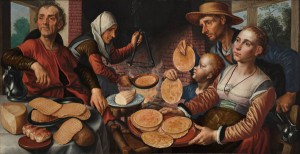 schilderij pannenkoekenbakster