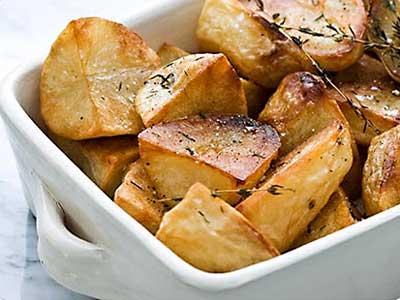 hoe lang aardappelschijfjes in de oven