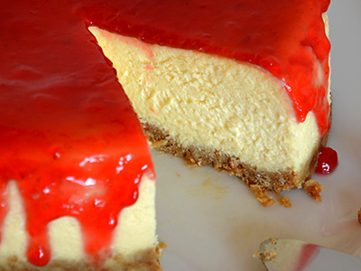 cheesecake met kwark en roomkaas