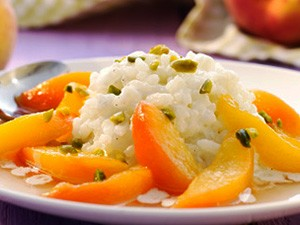 rijstebrij perzik