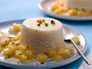 rijst pannacotta