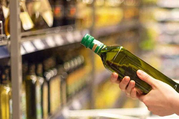 fles olijfolie